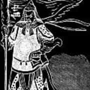 Black And White Chinese Warrior Poster