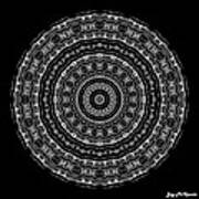 Black And White Mandala No. 3 Poster