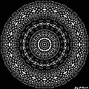 Black And White Mandala No. 4 Poster