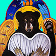 Black Bear Seraphim Photoshop Poster by Christina Miller