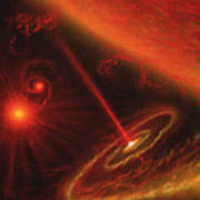 Black Hole & Red Giant Star Poster