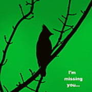 Black  On Green Poster