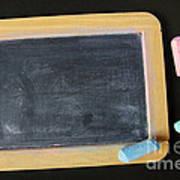 Blackboard Chalk Poster by Carlos Caetano