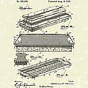 Blackboard Eraser 1893 Patent Art Poster