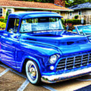 Blue 1956 Chevy Pickup Poster