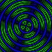 Blue And Green Abstract Poster