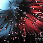 Blue And Red Light From Fiber Optic Poster