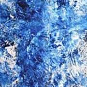 Ocean - Blue Abstract Art Paintingi Poster