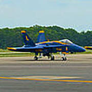 Blue Angels On Tarmac Poster