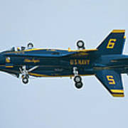 Blue Angels Solo Mirror Poster