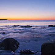 Blue Dawn Acadia National Park Poster