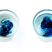 Blue Dye In Water Poster