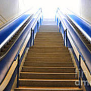 Blue Escalators Poster