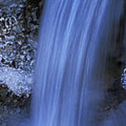 Blue Icy Waterfall Poster