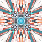 Blue Orange Kaleidoscope Poster
