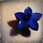 Blue Plastic Flower Poster by Ken Powers