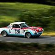 Blue Red And White Fiat Abarth Poster