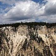 Blue Skies And Grand Canyon In Yellowstone Poster