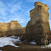 Blue Skies At Monument Rocks Poster