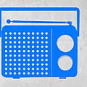 Blue Transistor Radio Poster