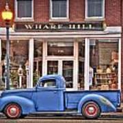 Blue Truck On Main Street Poster