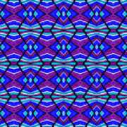 Blue Turquoise And Purple Poster