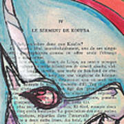 Blue Unicorn Poster