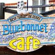 Bluebonnet Cafe Poster