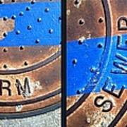 Bluer Sewer Diptych Poster