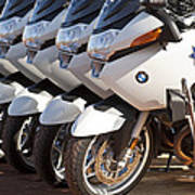 Bmw Police Motorcycles Poster