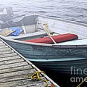 Boat In Fog Poster