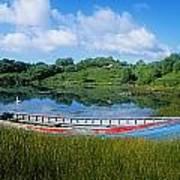 Boat Moored At A Harbor, Ellens Rock Poster