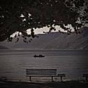 boat on the Lago Maggiore Poster