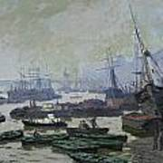 Boats In The Pool Of London Poster