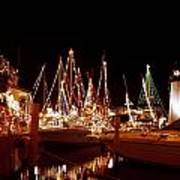 Boats Lighted Poster