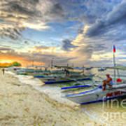 Boats Of Panglao Island Poster