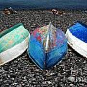 Boats On The Shingle Poster