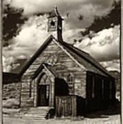 Bodie Church Sepia Poster