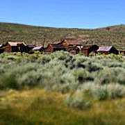 Bodie Ghost Town Landscape Poster