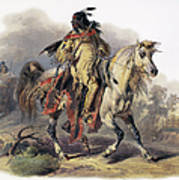 Bodmer: Blackfoot Horseman Poster