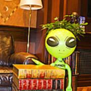 Bookworm Alien Poster