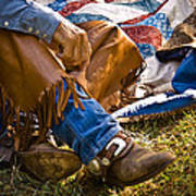 Boots And Quilt On The Trail Poster