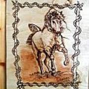 Born To Be Free-sylver  Horse Pyrography Poster