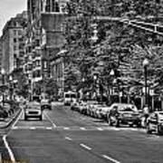 Boston City Scape Poster by Dan Crosby