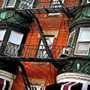 Boston House Fragment Poster by Elena Elisseeva
