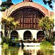 Botanical Gardens Watercolor Poster