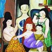 Botero Style Family Poster
