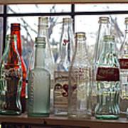 Bottles On The Shelf Poster