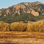Boulder Colorado Flatiron View From Jay Rd Poster
