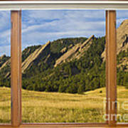 Boulder Colorado Flatirons Window Scenic View Poster
